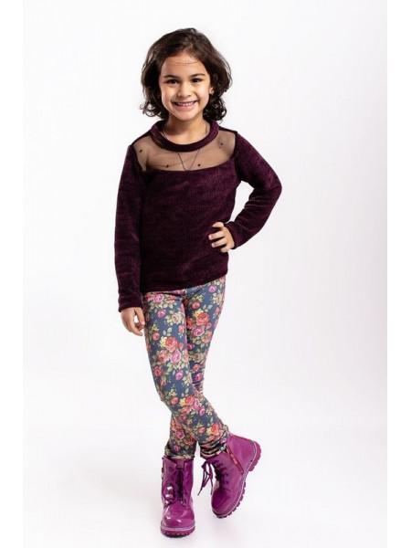 Красива дитяча кофта із довгим рукавом для дівчинки