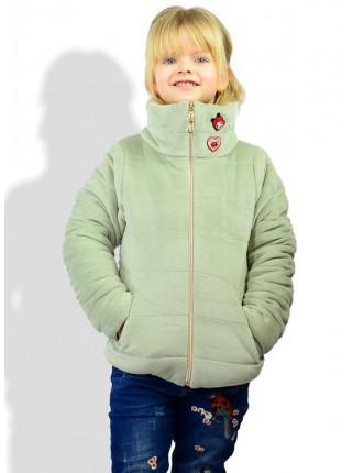 Детская велюровая куртка для девочки