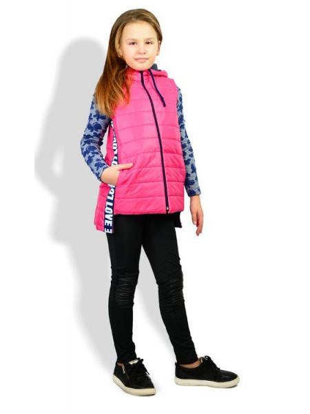Модная удлиненная жилетка на синтепоне для девочки
