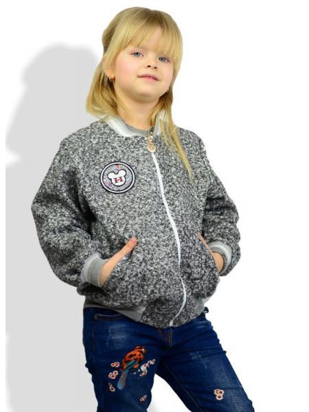 Модный детский бомбер для девочки