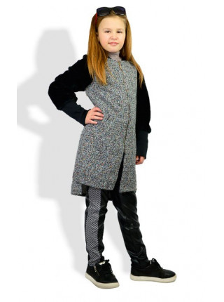 Модный теплый кардиган для девочки