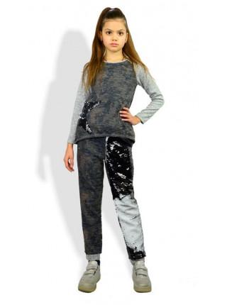 Детский стильный спортивный костюм в пайетки