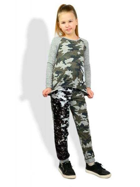 Дитячий стильний спортивний костюм в паєтки