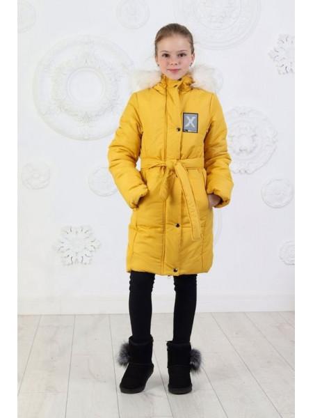 Детская зимняя куртка пальто с капюшоном