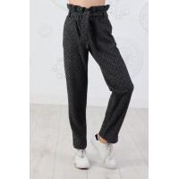 Стильные шерстяные брюки для девочки в принт