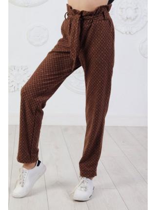 Стильні шерстяні штани для дівчинки в принт
