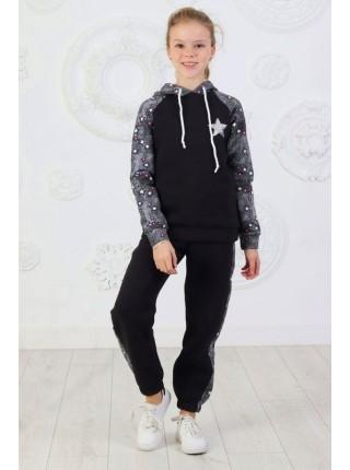 Детский теплый спортивный костюм на флисе для девочки