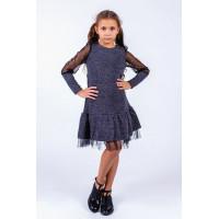 Детское трикотажное платье с фатином