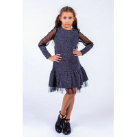 Дитяча трикотажна сукня із фатином