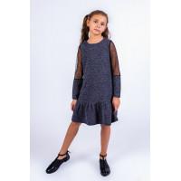 Дитяча трикотажна сукня із воланом