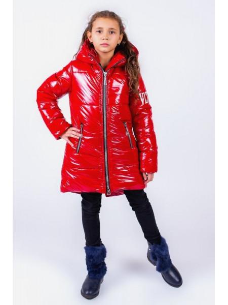 Детская зимняя куртка для девочки с карманами