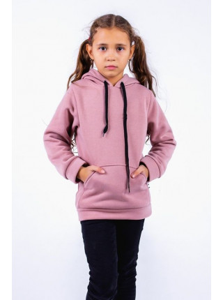Детская теплая толстовка с капюшоном для девочки