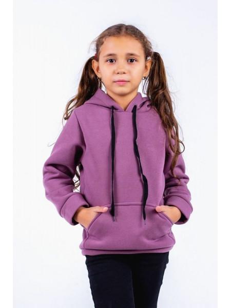 Дитяча тепла толстовка із капюшоном для дівчинки