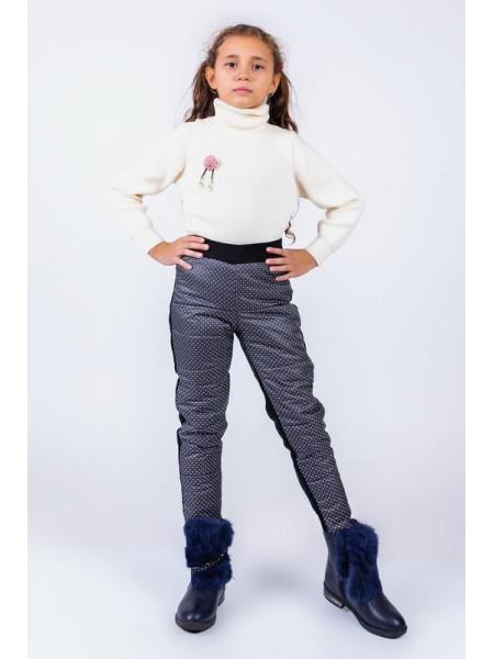 Детские теплые штаны на флисе