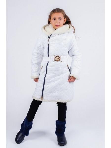 Тепле зимове пальто для дівчинки
