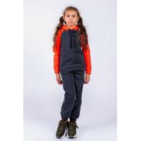 Дитячий спортивний теплий костюм на флісі для дівчинки