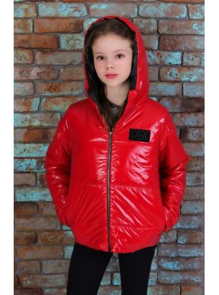 Дитяча весняна куртка з капюшоном для дівчинки
