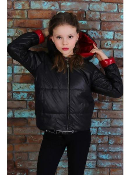 Детская весенняя куртка с капюшоном для девочки