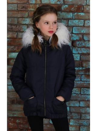 Демісезонна куртка із хутром для дівчинки