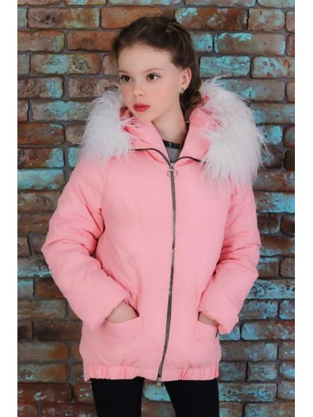 Демисезонная куртка с мехом для девочки