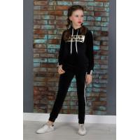 Детский велюровый спортивный костюм на девочку