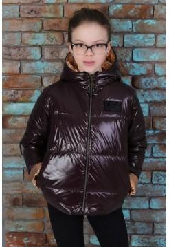 Стильная весенняя куртка для девочки с капюшоном