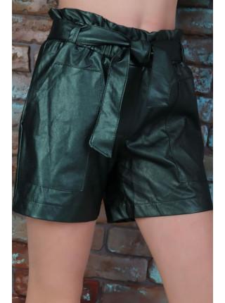 Короткі шкіряні шорти для дівчинки