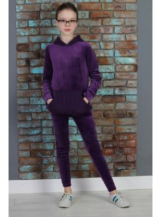 Модный спортивный костюм с карманом для девочки