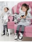 Детская модная демисезонная куртка металлик
