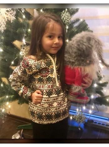 Дитячий теплий спортивний костюм в орнамент