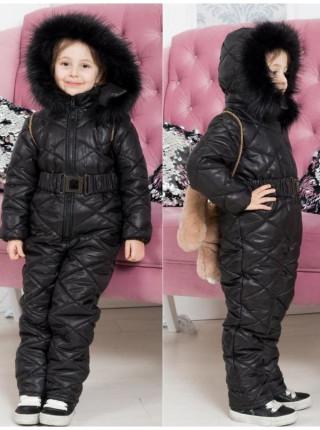 Комбінезон дитячий зимовий із поясом
