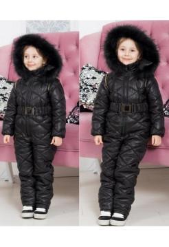 Комбинезон детский зимний с поясом