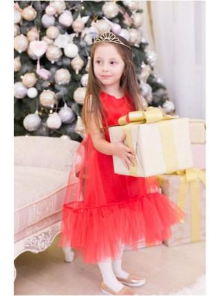 Нарядное детское платье из фатина