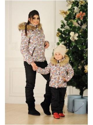 Дитячий зимовий комбінезон із курткою