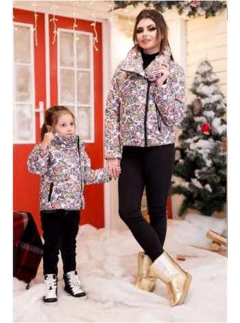 Модна куртка косуха для дівчинки