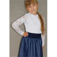 Дитяча шкільна блуза із гіпюру