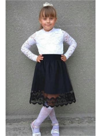 Школьная детская юбка с фатином