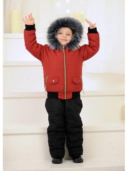 Зимний детский костюм с комбинезоном