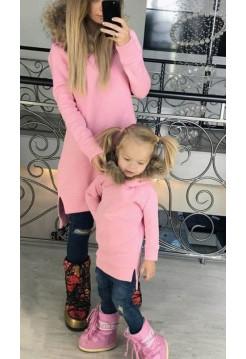 Дитяче плаття туніка із хутром