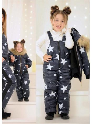 Зимний костюм со звездами для девочки