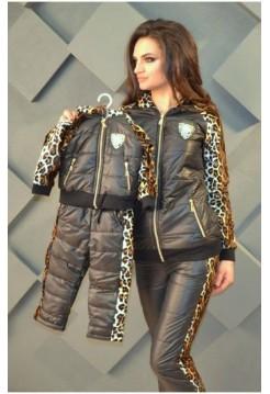 Теплый зимний костюм двойка для девочки