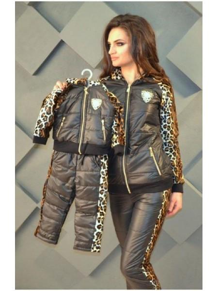 Теплый зимовий костюм двійка для дівчаток