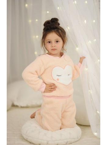 Дитячий махровий костюм для дівчинки