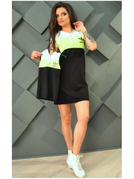 Летнее платье для девочки в спортивном стиле