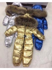 Дитячий зимовий комбінезон із натуральним хутром