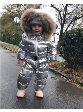 Детский зимний комбинезон с натуральным мехом