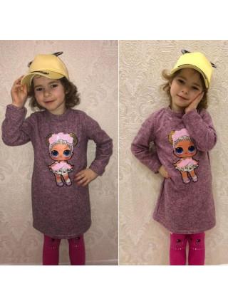 Платье детское с куклой Lol