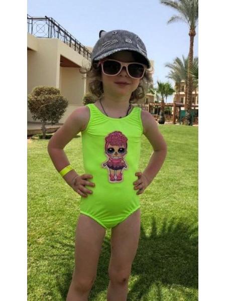 Модний суцільний купальник для дівчинки