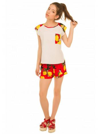 Літні шорти з принтом для дівчинки