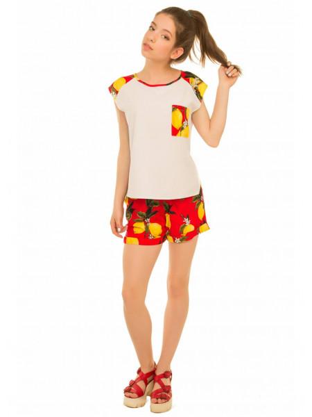 Летние шорты с принтом для девочки